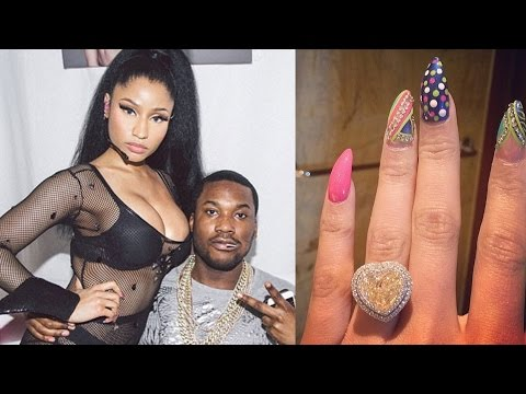 Nicki Minaj Engaged to Meek Mill - See Her HUGE Engagement Ring!