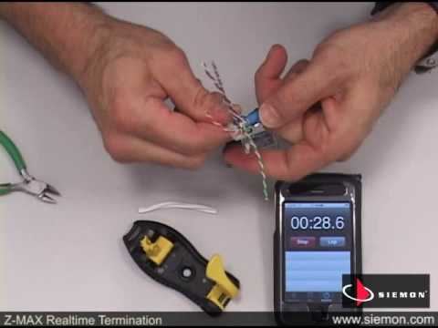 Siemon - Z-MAX Realtime 60 Second Termination of Category 6A Outlet