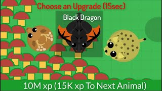 DEERS DIG INFINITE RED MUSHROOMS - Mope.io Crazy Glitch - Getting Black Dragon in 2 minutes