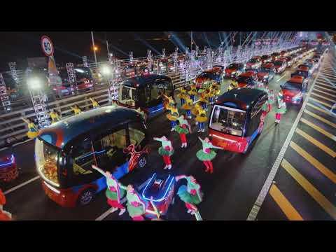Baidu's Custom Chinese New Year Apollo Autonomous Fleet Makes Debut on HongKong-Zhuhai-Macao Bridge