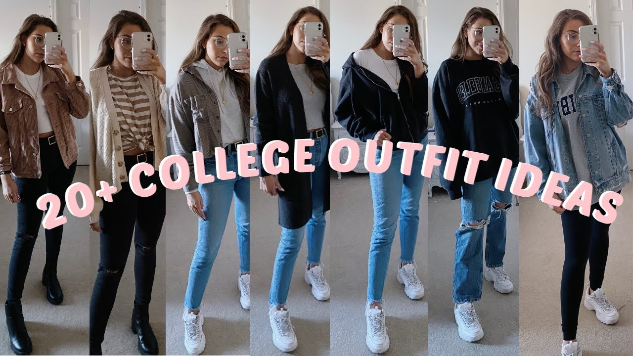 6+ CASUAL COLLEGE OUTFIT IDEAS  SPRING & WINTER  LOOKBOOK