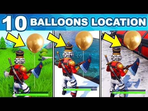 POP 10 GOLDEN BALLOONS LOCATIONS – WEEK 9 CHALLENGES FORTNITE SEASON 7 GUIDE