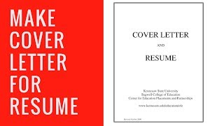 Make Resume Cover Page
