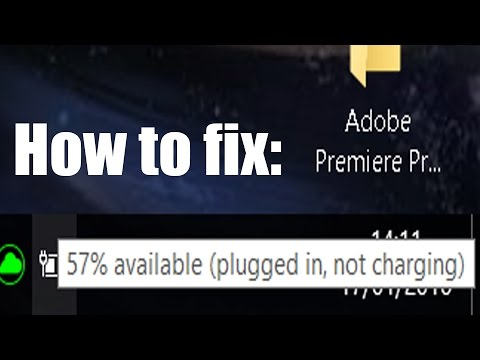 Fix (plugged in, not charging) - Windows 10 Lenovo Fix