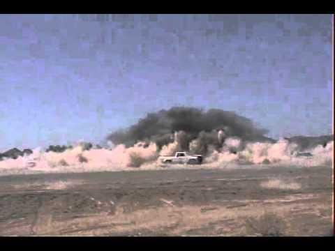 M777 155mm Howitzer impact
