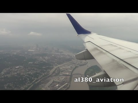JetBlue E-190 Cloudy, Overcast Landing In Pittsburgh!