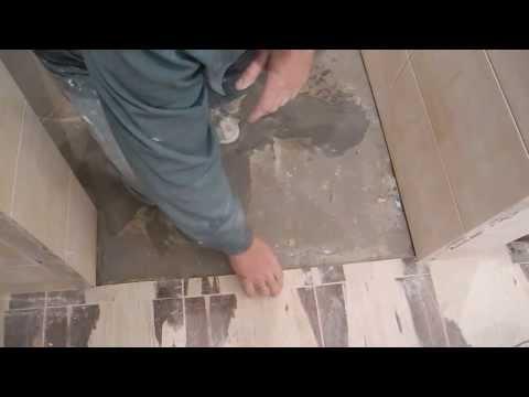Укладка напольной плитки в коридоре ч.1