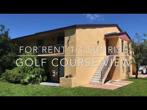 Amazing 1/1 renovated condo for rent in Sunrise Florida