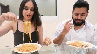 SPICY INDIAN NOODLE CHALLENGE *OUR FIRST TIME* !!!