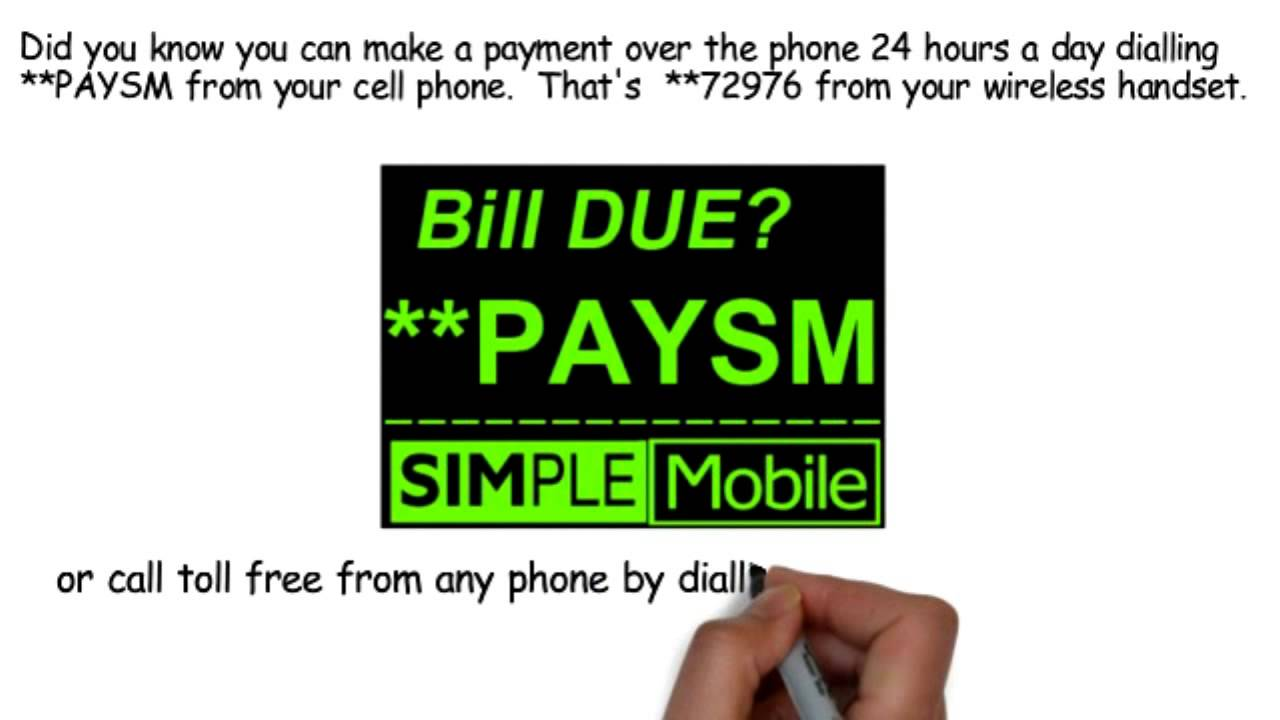 Pay SIMPLE MOBILE by Phone Dial **PAYSM