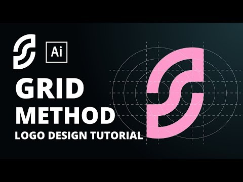 How to design a logo with grid | Adobe Illustrator Tutorial thumbnail