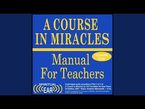 Acim teachers manual