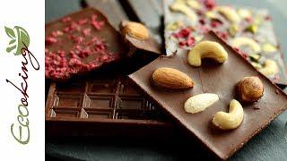 """Живой """"молочный"""" шоколад / на какао-порошке и кэробе / Vegan / Milk chocolate"""