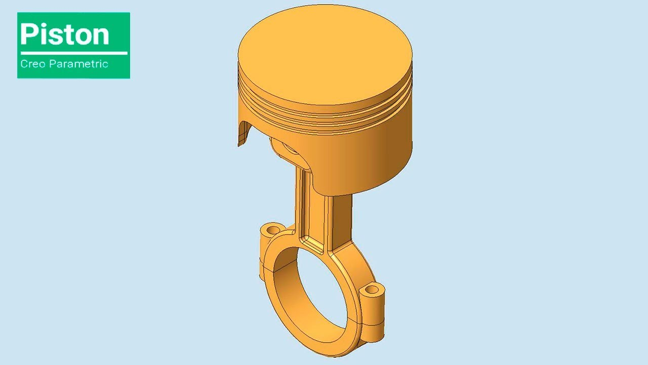 Piston Assembly || Creo Parametric Tutorial