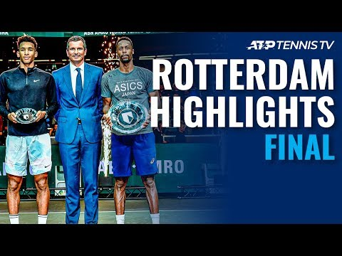 Gael Monfils Defeats Auger-Aliassime for 10th ATP Title 🏆 | Rotterdam 2020 Final Highlights