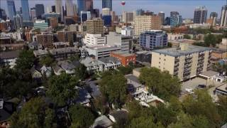 Aerial tour of Calgary's Mission Neighbourhood from drone