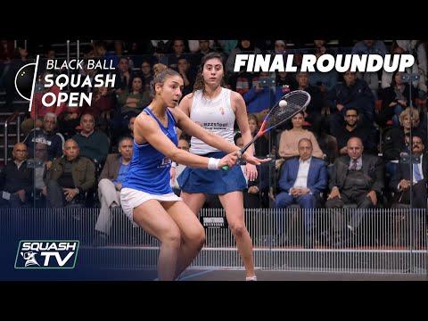 Squash: El Sherbini V El Hammamy - CIB Black Ball Women's Open 2020 - Final Roundup