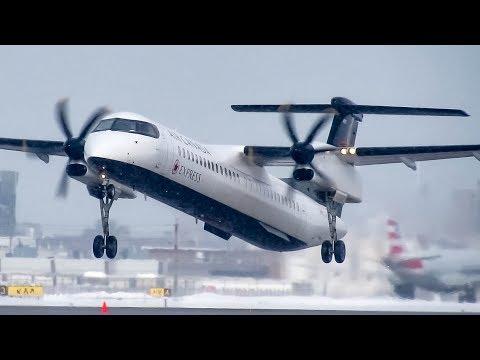 "Air Canada Express ""New Livery"" Bombardier Dash-8 Q400 landing & departing Montreal (YUL/CYUL)"