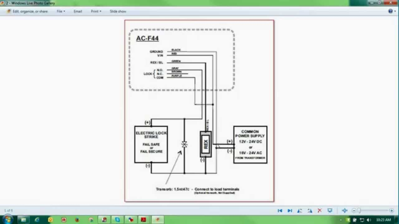 Wiring a Stand Alone Reader  Rosslare Security  YouTube