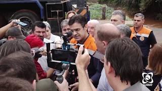 Governo do Estado vê de perto estragos das chuvas e promete ajuda a Botucatu
