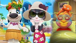 Моя говорящая Анджела, Кот Том, Хэнк Пляжная вечеринка Том и друзья Анжела, Джинджер