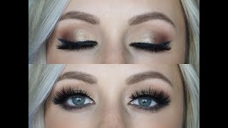 Bridal Smoked Out Cat Eye w/ pop of Kin Tutorial | Maskcara Beauty