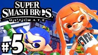 Super Smash Bros Ultimate - Inkling Guide - Incineroar & Marx - Switch Gameplay Walkthrough PART 5