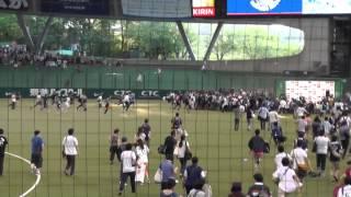 2014/07/12 西武ドーム ヤマノススメデー 試合後トークショー 井口 裕香...