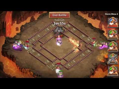 Castle Clash Storm Mesa 4 - Best Strategy