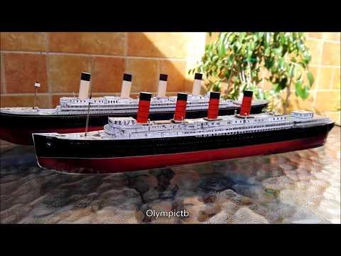 Ocean Liner Model (Olympic, Mauretania, Titanic...)