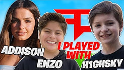 I PLAYED FORTNITE With ADDISON RAE's Brother Enzo and THIS HAPPENED.