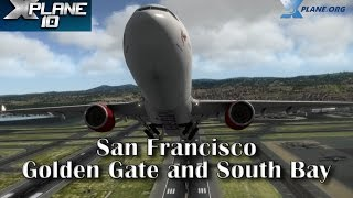 San Francisco Golden Gate and South Bay Area for X-plane 10