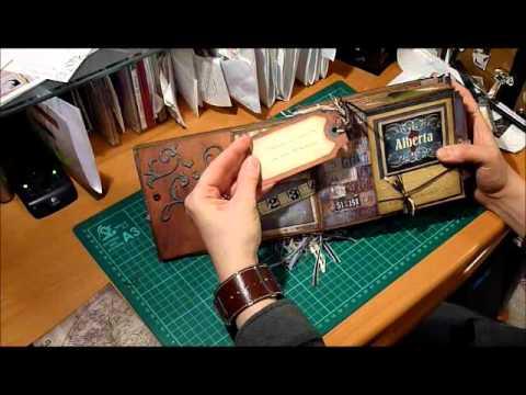 Grungy Mini Scrapbook Album