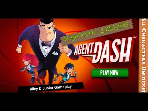 Highscore 2,453,692 on Massive Update of Agent Dash & All Characters Unlocked