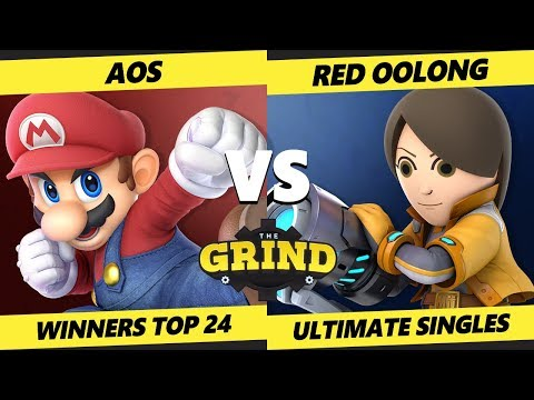 Smash Ultimate Tournament - AoS (Mario) Vs. Red Oolong (Mii Gunner) The Grind 89 Winners Top 24