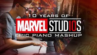 Marvel Studios Epic Piano Mashup - [10 Years of MCU Special] (Piano Cover)+SHEETS&MIDI