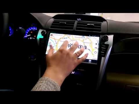 FlyAudio G8832H01 в автомобиле TOYOTA Camry 2015
