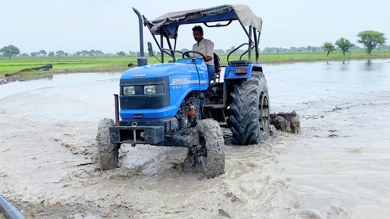 Part-2 | Sonalika 60 Rx Puddling for Rice farming without catch wheals
