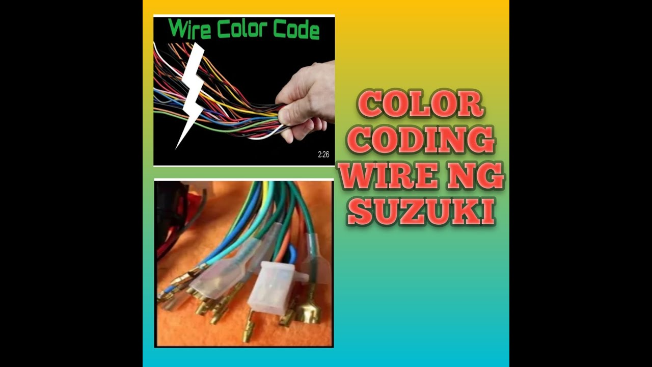 color coding wire harnes ng suzuki. - youtube  youtube