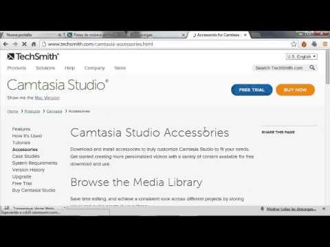 Como Descargar Musica de fondo y Temas de animacion para Camtasia Studio 8