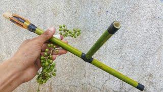Making Easy Bamboo Gun that Can Shoot Fruit Bullet
