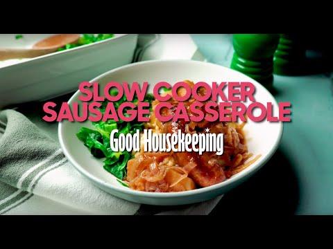 Sausage Casserole Slow Cooker Recipe | Good Housekeeping UK