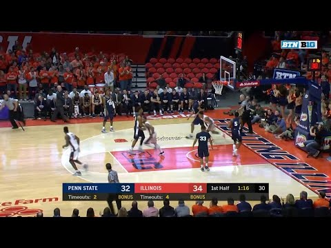 Penn State at Illinois - Men's Basketball Highlights