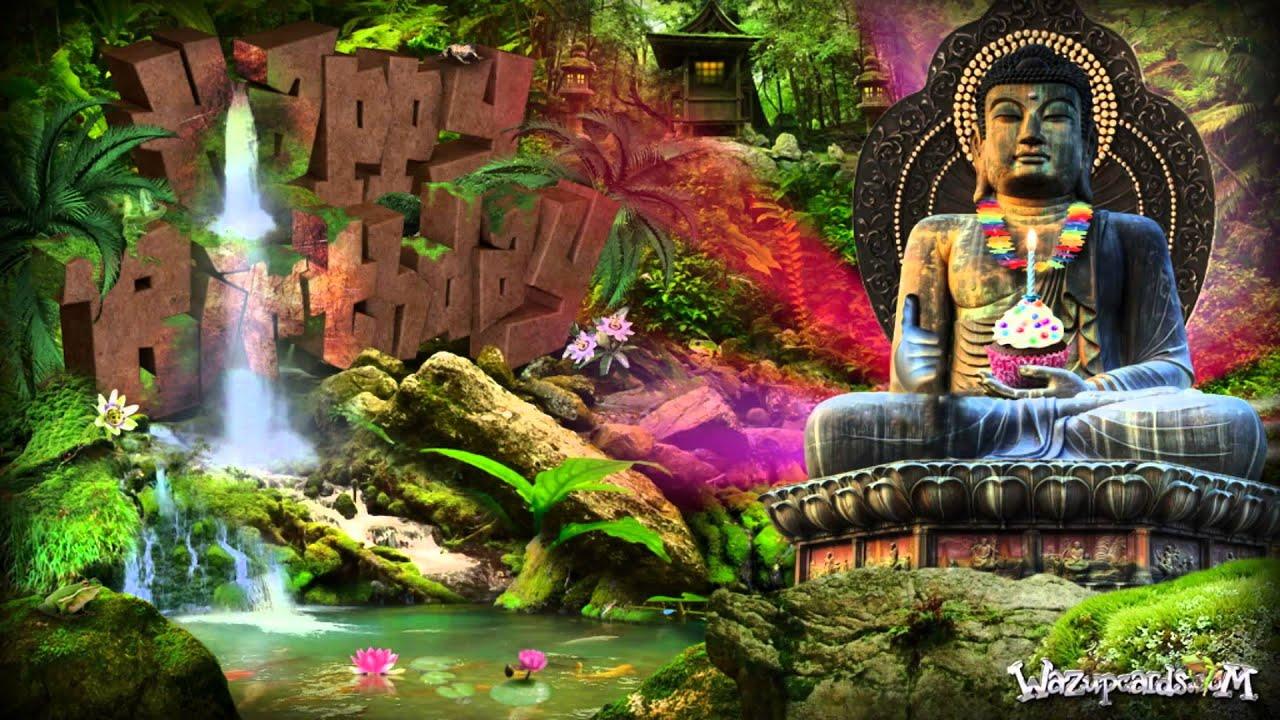 Lord Buddha Animated Wallpapers Buddha Birthday Greeting Youtube