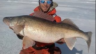 Lake Erie Awesome Ice Fishing for Hawgeye Walleye - Fishing and Fun with JFick - Ohio Outdoors