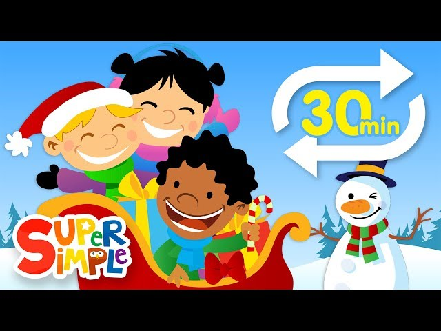 Jingle Bells (Extended Mix - 30 Mins!) | Kids Songs | Super Simple Songs