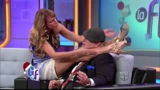 Repeat youtube video Lili Estefan's Hot Leg Lifts in Stiletto Pumps