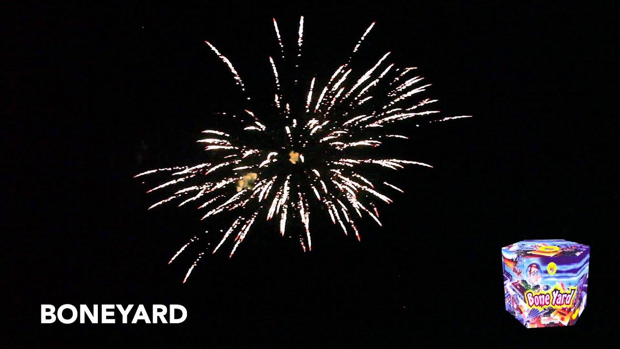 BONEYARD - MULTI SHOT CAKE - WORLD CLASS FIREWORKS - YouTube