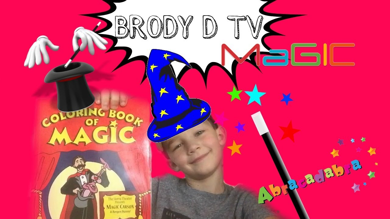 Easy Magic Trick for kids! Magic Coloring book tutorial! - YouTube
