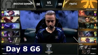 IG vs FNC | Day 8 Group D Decider S8 LoL Worlds 2018 | Invictus Gaming vs Fnatic